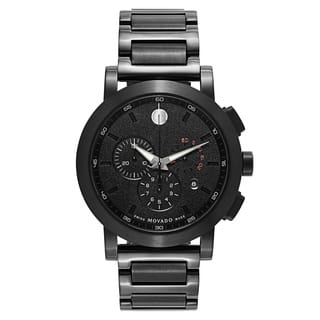Movado Museum Sport Black Stainless Steel and Sapphire Men's Watch|https://ak1.ostkcdn.com/images/products/17907456/P24090377.jpg?impolicy=medium