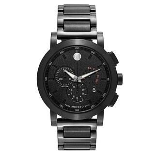 Movado Museum Sport Black Stainless Steel and Sapphire Men's Watch