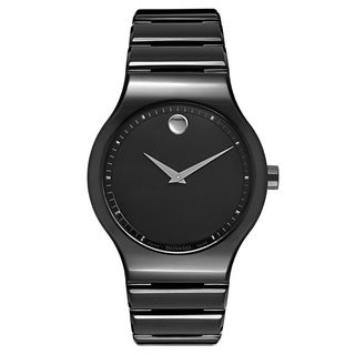 Movado Ceramico 0607047 Men's Black Ceramic Watch