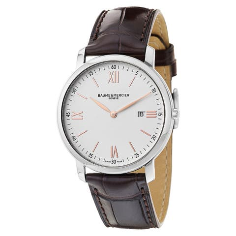 Baume & Mercier Men's MOA10181 'Classima Executives' Brown Leather Watch