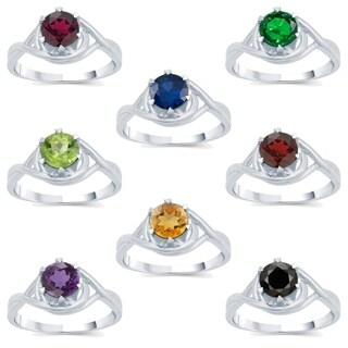 Link to Sterling Silver Choice of Gemstone Solitaire Ring Similar Items in Rings
