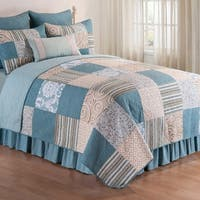 Melinda Cotton/Microfiber Quilt Set