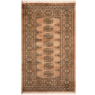 Handmade Herat Oriental Pakistani Hand-knotted Bokhara Wool Area Rug - 2'6 x 4' (Pakistan)