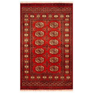 Handmade Herat Oriental Pakistani Hand-knotted Bokhara Wool Area Rug (Pakistan) - 2'6 x 4'