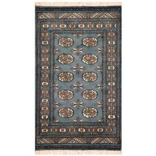 Handmade Herat Oriental Pakistani Hand-knotted Bokhara Wool Area Rug (2'6 x 4')