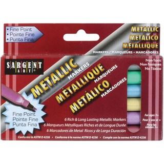 Liquid Metals Fine Point Markers 6/Pkg-