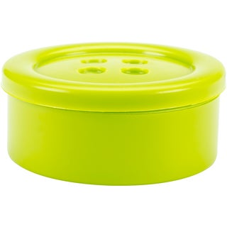 """Button Shaped Storage Box 3.25""""-Lime - Small"""