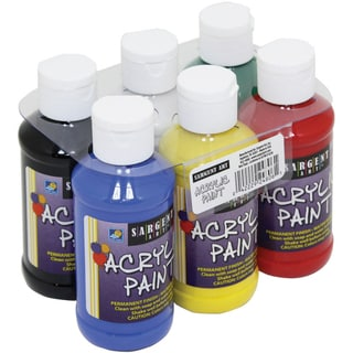 Acrylic Paint Set 4oz 6/Pkg-