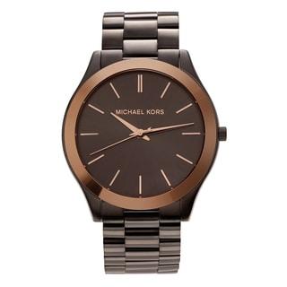 Michael Kors Men's MK8576 'Slim Runway' Gunmetal-tone Stainless Steel Link Bracelet Watch