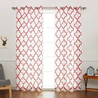 Aurora Home Moroccan Outline Curtain Panel Pair