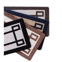 VCNY Home Greek Key 2-Tone Jacquard Memory Foam Bath Runner