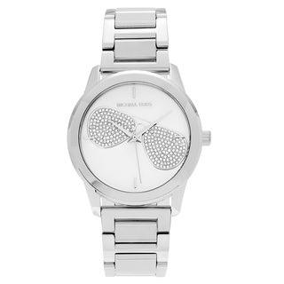 Michael Kors Women's MK3672 'Hartman' Stainless Steel Crystal Pave Sunglasses Bracelet Watch