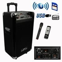 beFree Sound Sleek 10 Inch Professional Portable Bluetooth PA Speaker