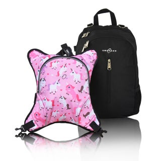 Obersee Rio Diaper Bag Backpack With Detachable Cooler (Option: Black/Pink)