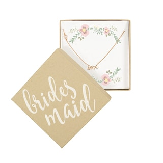 Rose Gold Bridesmaid Love Necklace