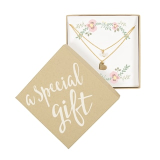 Personalized Special Gift Gold Double Chain Pearl Necklace