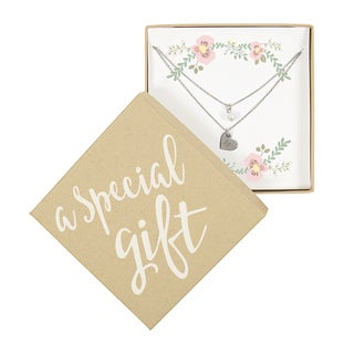 Personalized Special Gift Silver Double Chain Pearl Necklace