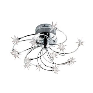 Eurofase Starburst 15-Light Flushmount, Chrome Finish - 12898-015