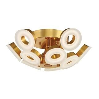 Eurofase Glendale 10-Light LED Flushmount, Gold Finish - 29096-039