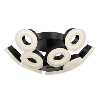 Eurofase Glendale 10-Light LED Flushmount, Black Finish - 29096-022