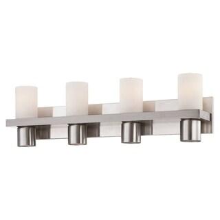 Eurofase Pillar 4-Light Bathbar, Brushed Nickle Finish - 23279-025