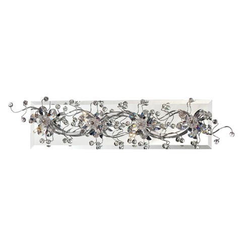 "Eurofase Relic 4-Light Bathbar, Chrome Finish - 28179-016 - 5.25"" high x 19.25"" wide - 5.25"" high x 19.25"" wide"