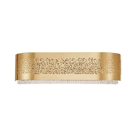 "Eurofase Cara 4-Light Bathbar, Gold Finish - 28111-023 - 5.5"" high x 20"" wide - 5.5"" high x 20"" wide"