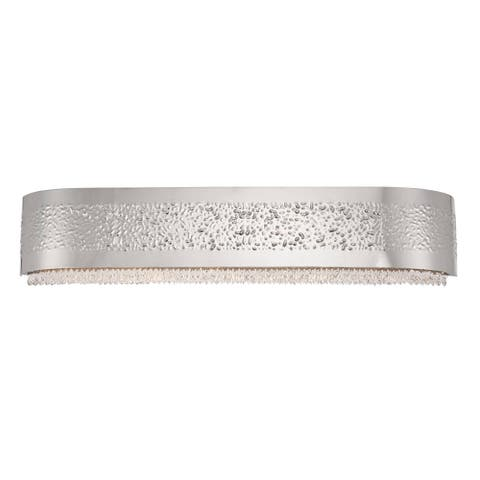 """Eurofase Cara 5-Light Bathbar, Satin Nickel Finish - 28234-012 - satin nickel - 5.5"""" high x 27.5"""" wide"""