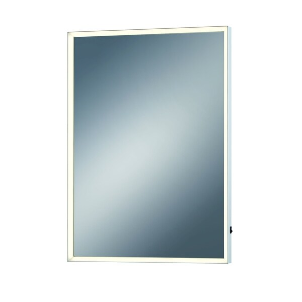 Eurofase Small Rectangular Edge-Lit LED Mirror, 28 Inches High by 20 Inches Wide - Model 31478-014