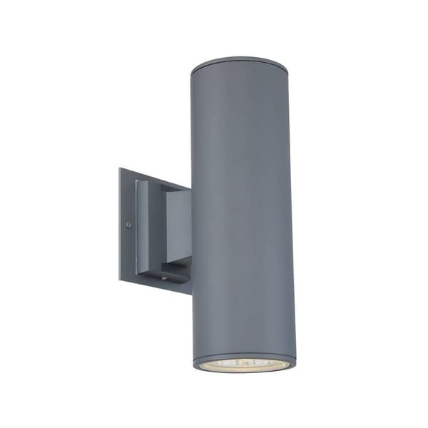 outdoor up down lights stainless steel eurofase outdoor up amp down light sconce led grey 30349018 shop