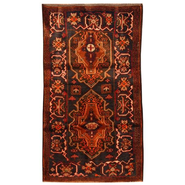 Handmade Herat Oriental Afghan Hand-knotted Tribal Balouchi Wool Rug (Afghanistan) - 2'6 x 4'6