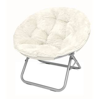 Mongolian Fur Papasan Chair in White (As Is Item)|https://ak1.ostkcdn.com/images/products/17909076/P91025605.jpg?impolicy=medium