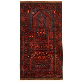 Handmade Balouchi Wool Rug (Afghanistan) - 2'7 x 5'