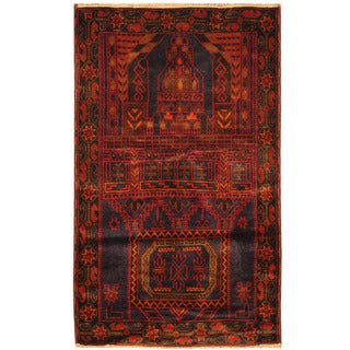 Handmade One-of-a-Kind Balouchi Wool Rug (Afghanistan) - 3' x 5'