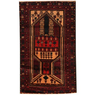 Handmade Balouchi Wool Rug (Afghanistan) - 2'8 x 4'4
