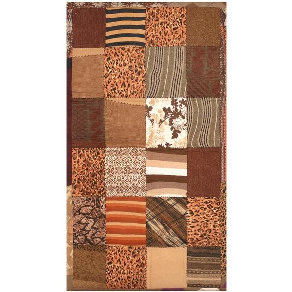 Handmade Herat Oriental Indo Memory Foam Cotton Patchwork Rug (India) - 3' x 5'