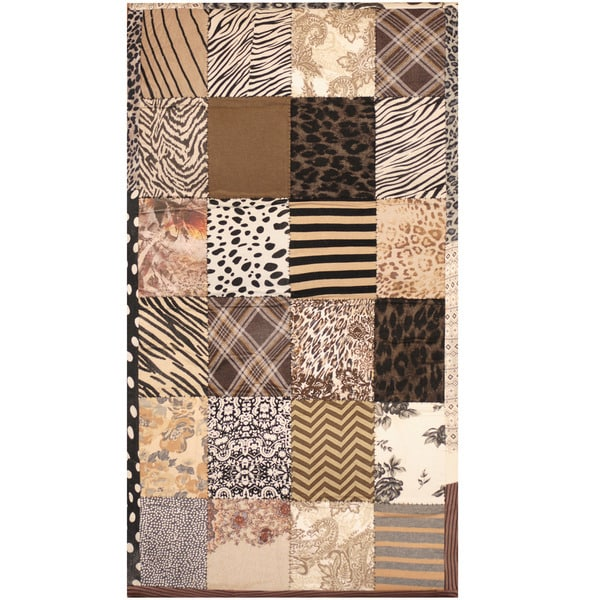 Handmade Memory Foam Cotton Patchwork Rug (India) - 3' x 5'