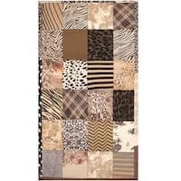 Herat Oriental Indo Hand-stitched Memory Foam Cotton Patchwork Rug (2'10 x 4'10) - 3' x 5'