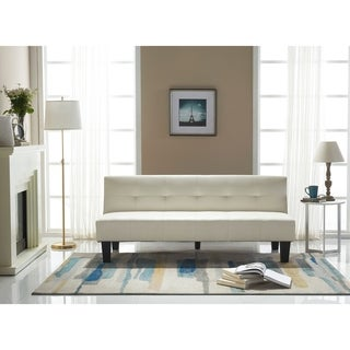 Perth Contemporary White Leather Sleeper Sofa