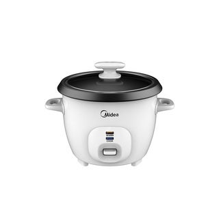 Midea 3 Cup Rice Cooker, White
