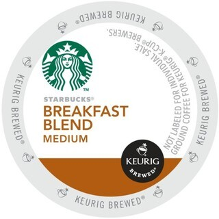 Starbucks Breakfast Blend, K-Cup Portion Pack for Keurig Brewers (2 options available)
