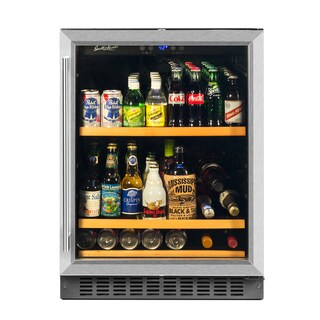 BEV145SRE 178 Can Capacity Single Zone Under Counter Beverage Refrigerator, 24 Inch Width
