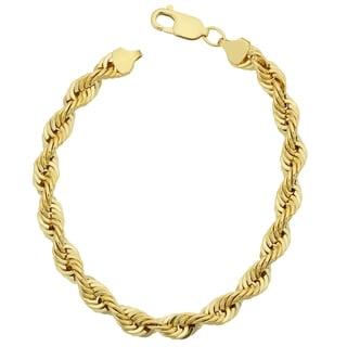 Fremada Men's 14k Yellow Gold Filled Bold 6-mm Rope Chain Bracelet