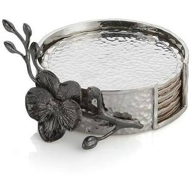 Michael Aram Black Orchid Coaster Set - 110832
