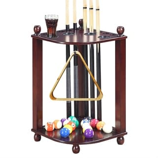 Regent Corner Floor Cue Rack - Mahogany Finish