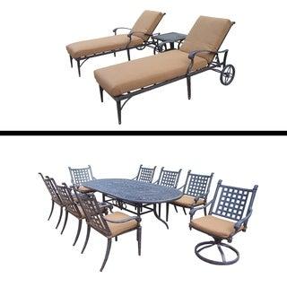 9 Pc Dining Set and 3 Pc Lounge Set and Sunbrella Cushions