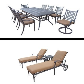 Extendable Table, 6 Chairs, 2 Swivel Rockers and 3 Pc Lounge Set