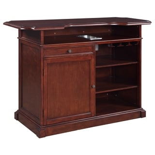 Ridgeline Walnut Finish Wooden 5-foot Home Bar Set With Storage