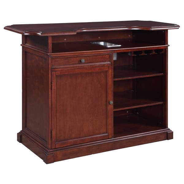Shop Ridgeline 5 Ft Home Bar Set With Storage Free Shipping Today
