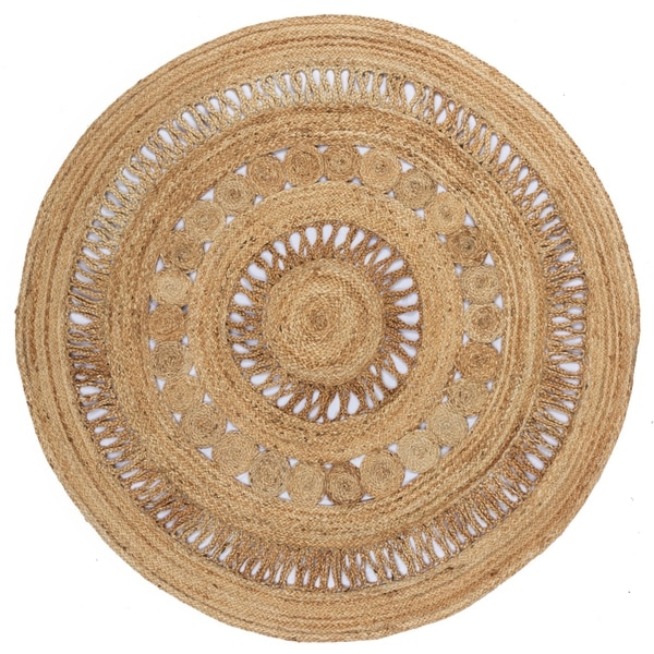 Earth First Jute Stitched (3x3') Round Rug